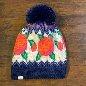 Coal floral winter hat